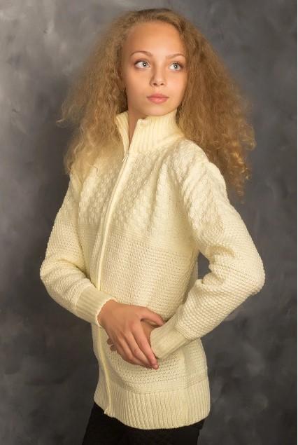 кофта теплая для девочки, школа 1213 фотография