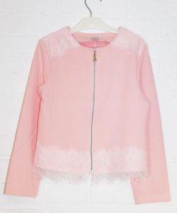 болеро для девочки на молнии розовое 121219 фотография