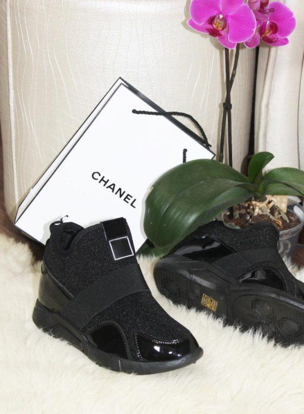 ботинки в спортивном стиле черные 100219 фотография