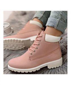 ботинки в стиле тимберленд пудра 100919 фотография