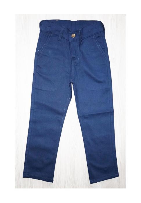 брюки для мальчика коттон синие 5075 фотография
