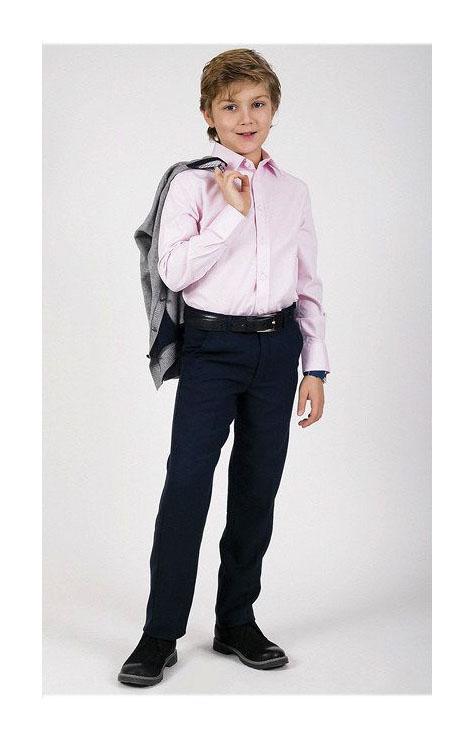 брюки на мальчика с поясом темно синие 14173 14173 фотография