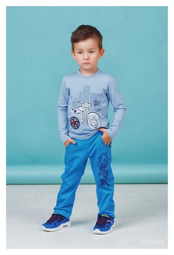 детские брюки для мальчика на резинке 80112 фотография