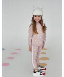костюм для девочки теплый вязаный звездочка розовый 16301 16301 фотография