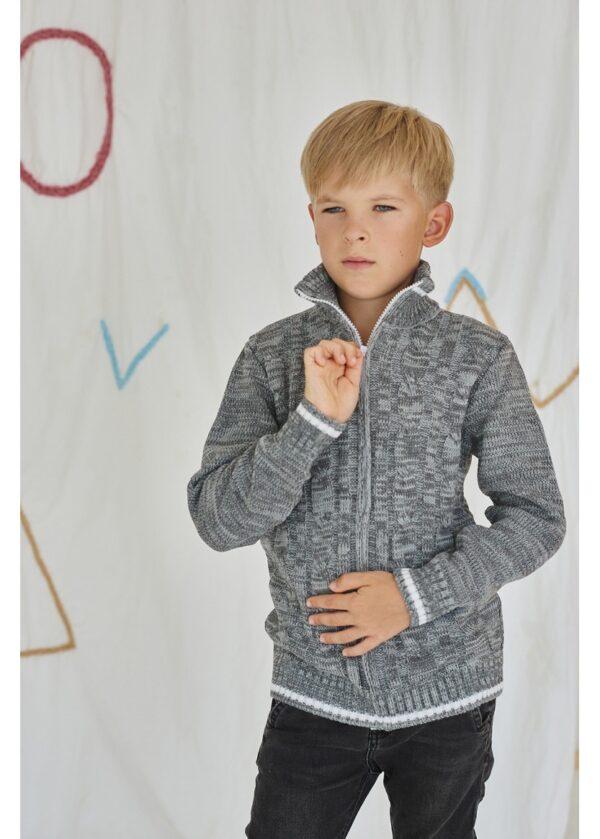 кофта на мальчика теплая на молнии 301116 фотография