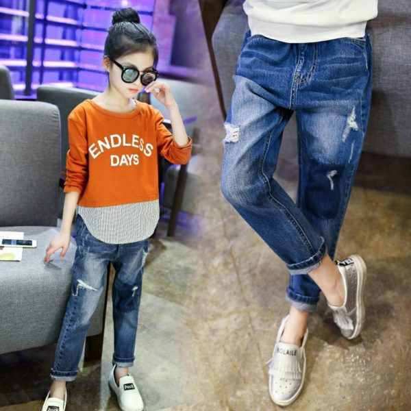 джинсы на девочку рванка 190520 190520 фотография