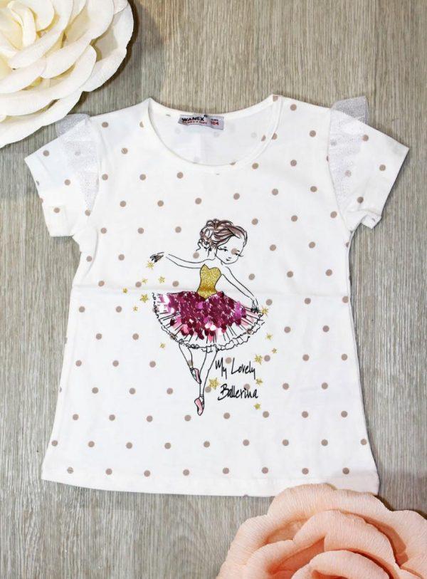 футболка для девочки балеринка 30747 фотография