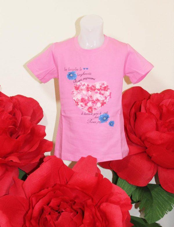 футболка на девочку сердце в цветочек 3993 3993 фотография