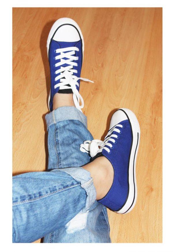 кеды текстиль синие 9099 фотография