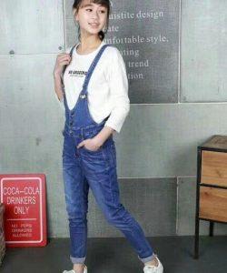 комбинезон джинсовый на пуговицах синий 10520 10520 фотография