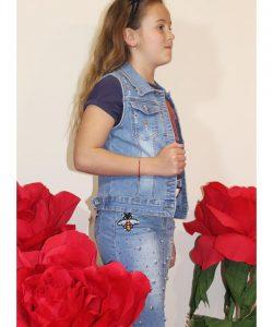 костюм на девочку джинсовый гуччи 100519 фотография