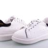 кроссовки белые с черным задником 6399 фотография №3