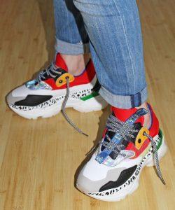 кроссовки цветные с оригинальной подошвой 16333 фотография
