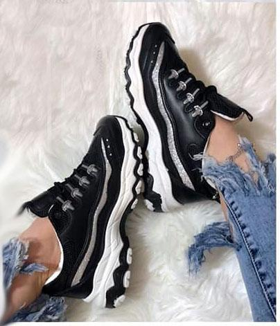 кроссовки женские черные 130219 1302193 фотография