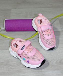кроссовки для девочки сетка розовые 100420 100420 фотография