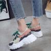 кроссовки женские на массивной подошве с толстым шнурком 5998 фотография №4