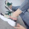 кроссовки женские на массивной подошве с толстым шнурком 5998 фотография №5