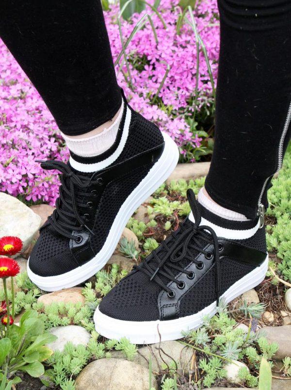 кроссовки-носки со шнуровкой черные 705202 705202 фотография
