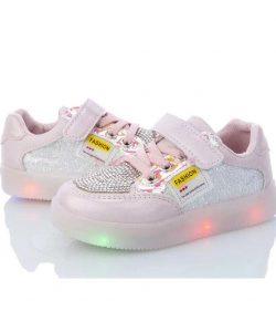 кроссовки с подсветкой для девочки розовые 2973 2973 фотография