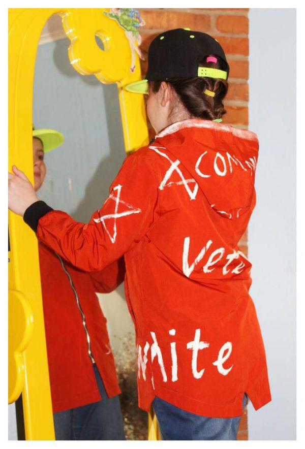куртка для девочки подростка звезда кирпичная 18051 18051 фотография