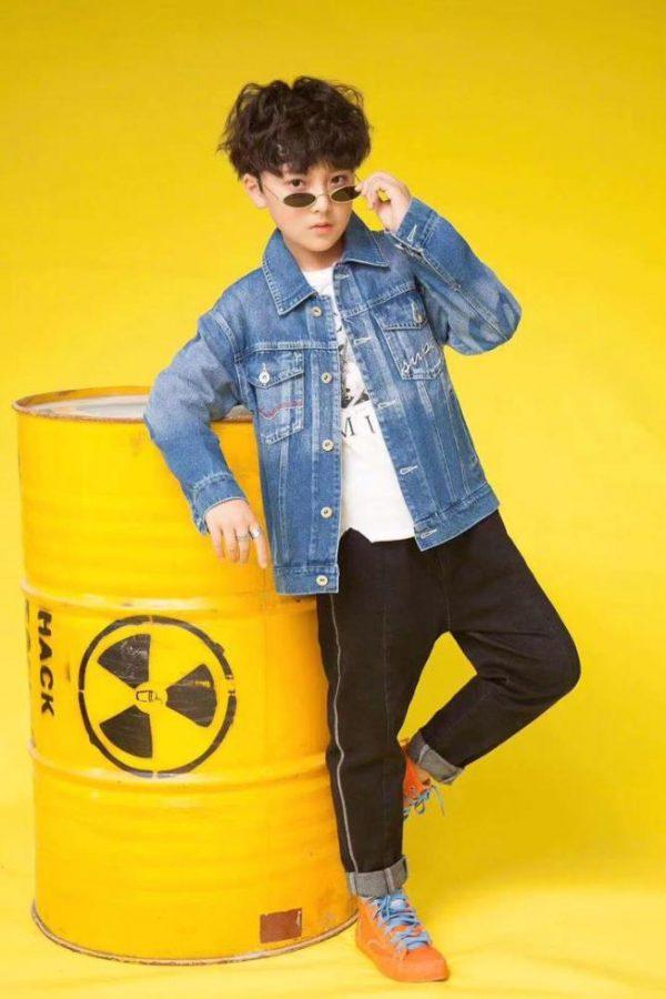 куртка джинсовая на мальчика supreme 1809 1809 фотография