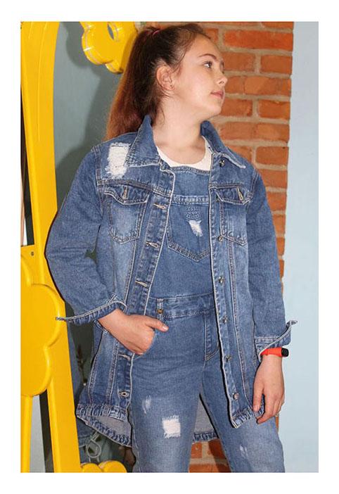 куртка на девочку джинсовая пайетка 1207 1207 фотография