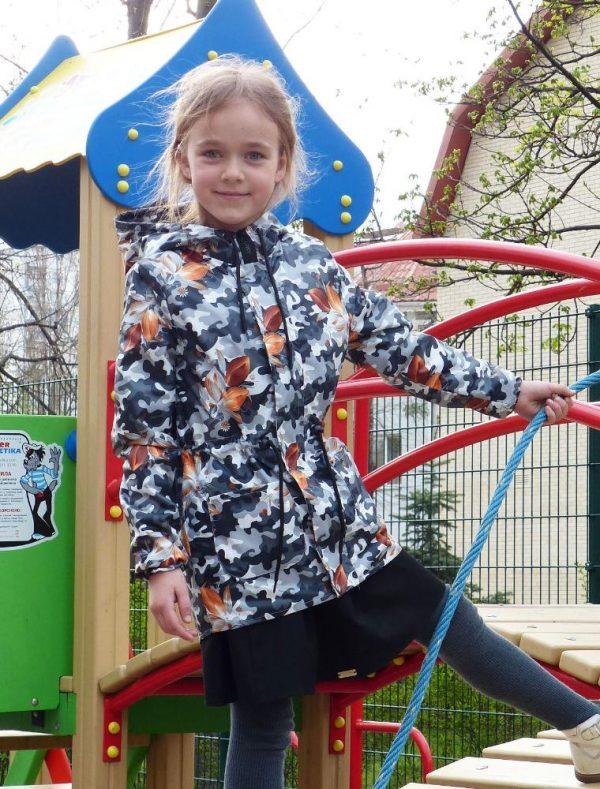 куртка ветровка на девочку подростка камуфляж, размеры 128-164 404181 фотография