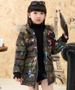 модная куртка для девочки мотылек 251116 фотография