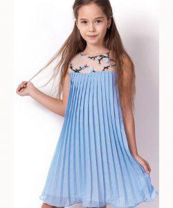 платье на девочку плиссе голубое 3212 3212 фотография