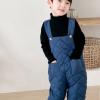 полукомбинезон детский стеганый синий 290919 фотография №2
