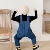 полукомбинезон детский стеганый синий 290919 фотография №3