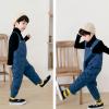 полукомбинезон детский стеганый синий 290919 фотография №4