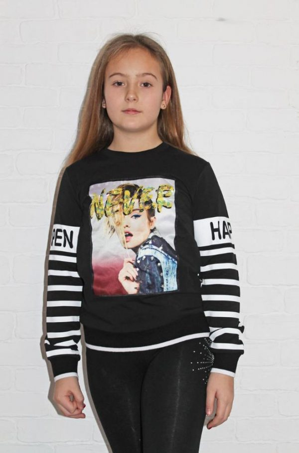 свитшот на девочку подростка never 8249 фотография