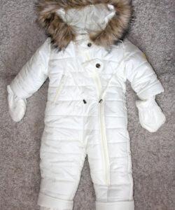 комбинезон цельный для новорожденных белый 181020-1 фотография