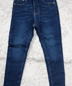 джинсы на флисе для девочки подростка синие 1125 фотография