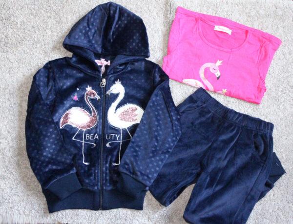 костюм спортивный теплый на девочку фламинго, 4-6 526124 фотография