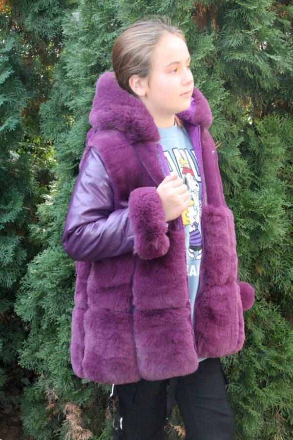 шуба на девочку фиалковый шик 8867-7-1 фотография