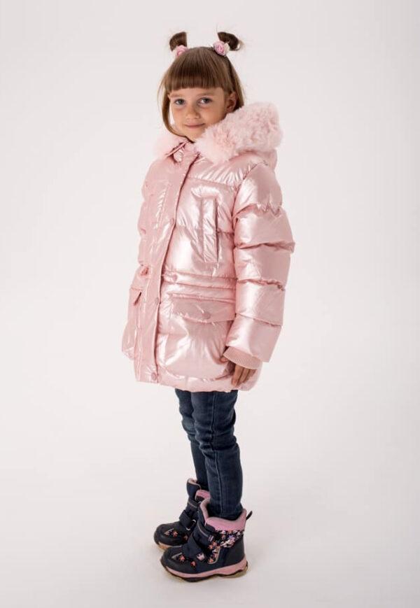 куртка на девочку зимний перламутр 61120 фотография