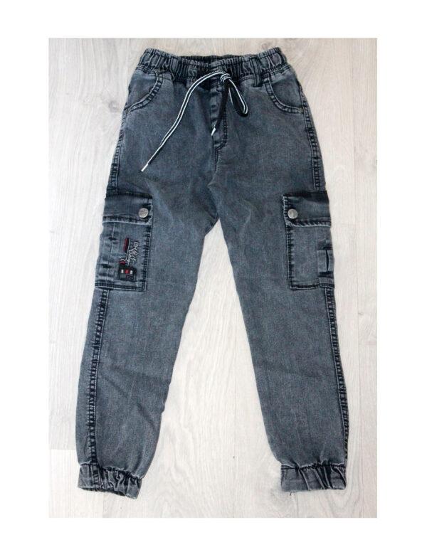 джинсы для мальчика джогеры серые 190221 190221 фотография
