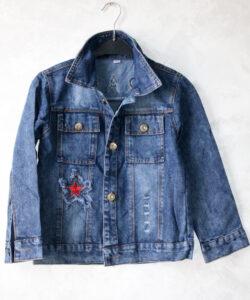 куртка джинсовая на мальчика звезды 20321 20321 фотография