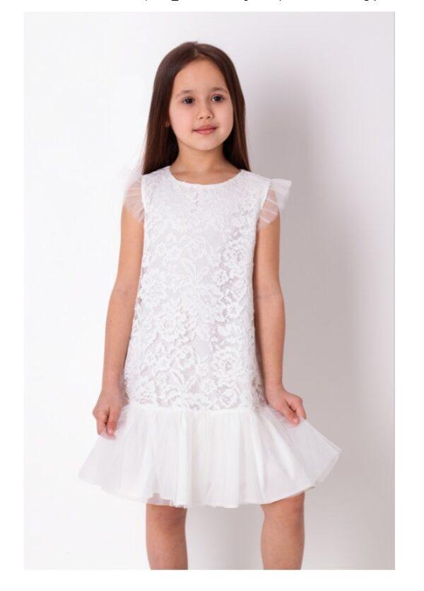 платье для девочки летний шик белое 3876 3876 фотография