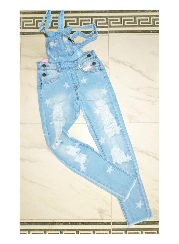 комбинезон джинсовый для девочки большие звезды 1530 1530 фотография