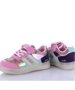 кроссовки детские для девочки с подсветкой malibu 25081 25081 фотография