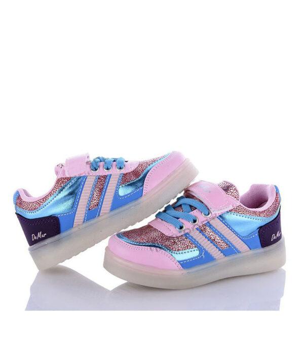кроссовки детские для девочки с подсветкой malibu 2508 2508 фотография