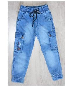 джинсы джоггеры для мальчика голубые 3-7 лет 1004211 1004211 фотография