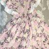 """платье красивое для девочки """"в цветах"""" розовое 260521 260521 фотография №1"""