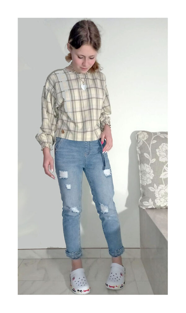 джинсы момы на девочку подростка голубые 4005 4005 фотография