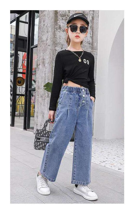 джинсы на девочку момы широкие 200521 200521 фотография