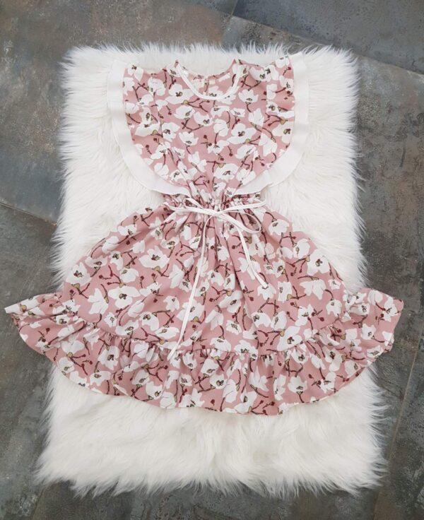 """платье красивое для девочки """"в цветах"""" розовое 260521 260521 фотография"""