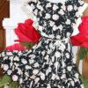 """платье красивое для девочки """"в цветах"""" черное 250521 250521 фотография №1"""